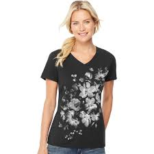 Hanes V Neck Size Chart Womens Hanes Tri Blend Graphic V Neck Tee Products In