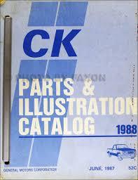 1988 chevy gmc c k pickup wiring diagram original 1988 chevrolet and gmc c and k 1500 3500 pickup parts book original cheyenne sierra