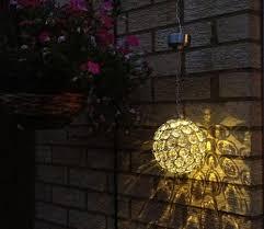 outdoor lighting balls. Aria Solar Hanging Crystal Ball Light Outdoor Lighting Balls T