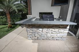 outside bbq concrete countertops