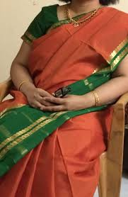 Ksic Saree Designs Rust Orange And Green Border Mysore Silk Saree Ksic