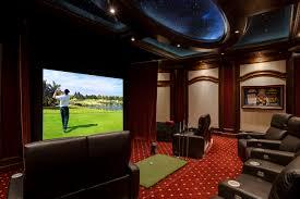 Golf Simulator Lighting Elan Transforms A Golf Simulator Game Room Into A Home Theater