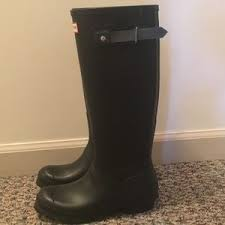 hunter boots size 6 33 off hunter shoes boots black tall size 6 poshmark