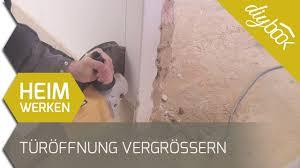 Türöffnung Vergrößern Mauerdurchbruch Schneiden Youtube