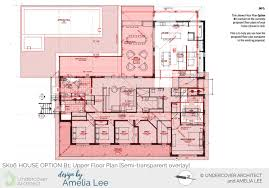 this semi transpa overlay shows the change to the overall size of the extension similar area arranged diffely