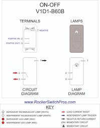 rocker switch on off spst 1 dep light v1d1 v1d1 b60b carling rocker switch v1d1 b60b carling rocker wiring diagram