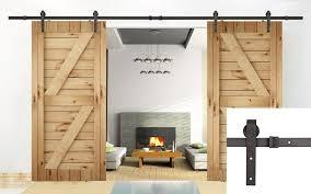 Amazon.com: U-MAX 13 FT Double Door Sliding Track Barn Door ...
