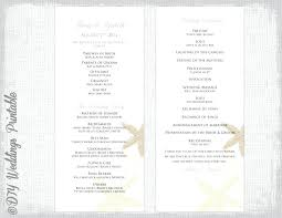 blue flat program template word file wedding programs for free