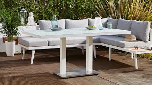 modern white outdoor dining tables