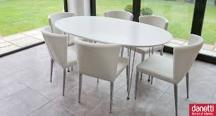 modern white oval dining table