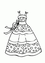Dress Summer Polka Dot Coloring Page For Girls Printable Free Idea
