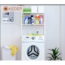 Khuyến Mại】 Kệ để đồ tiết kiệm không gian để máy giặt 2 tầng cao cấp Online  Mall (Trắng)