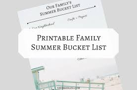 Bucket List Printable Template Summer Bucket List A Printable Template For You