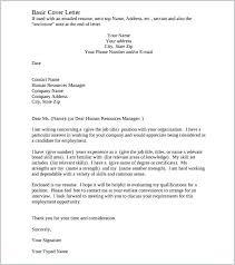 Cover Letter Samples Pdf Printable Company Basic Cover Letter