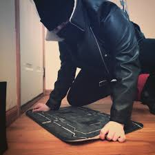 creativebest friend got me a frost trap welcome mat and i had to put together a frost cosplay in 2 seconds to show it off