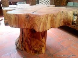 sofa tree stump coffee
