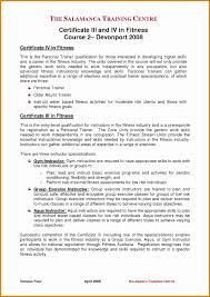 Fitness Trainer Resume Format Inspirational Athletic Trainer Cover