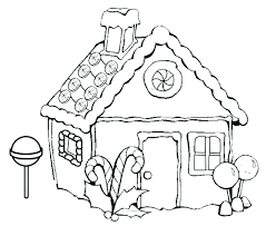 Gingerbread House Coloring Pages Printable Gingerbread House