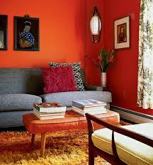 walls color ideas orange wall decoration sofa