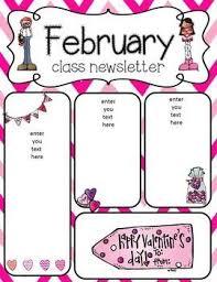 February Newsletter Template February Newsletter Freebies Lynn Preschool Newsletter