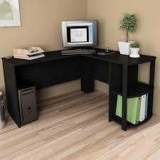 black l desk