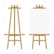 vector wooden easel template vector ilration of paint desk and white paper isolated on background blank canvas on painting easel