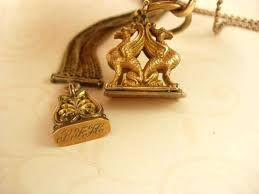 antique wax seals eagle seal inspirational to griffin mythical creature watch fob and chain with brass antique wax seals