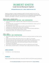 Resume For Servers Lead Server Resume Samples Qwikresume
