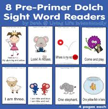 dolch primer 8 early readers pre primer dolch sight word based living life