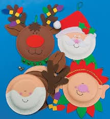 Paper Plate Santa Craft Kit Image... could make these ourself