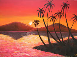 simple watercolor paintings of sunset best painting 2018
