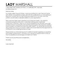 statement of interest cover letter best personal trainer cover letter examples livecareer
