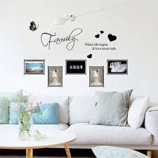 removable carved english family photo frame wall sticker 3d art mural home decor for sitting room sofa background wall decal art stickers for walls art wall
