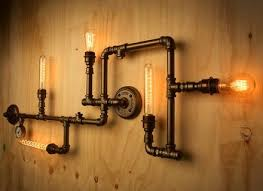 diy pipe lighting. Diy Pipe Lighting. Delighful Lighting Black Light Fixture  Galvanized Floor Intended S