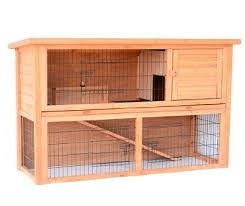 4 wooden rabbit hutch with outdoor run