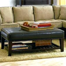 faux leather coffee table brown faux leather trunk coffee table