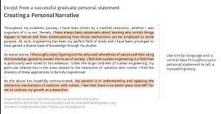 graduate personal statement