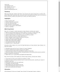 Welder Fabricator Resume - April.onthemarch.co