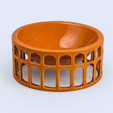 <b>Миска сервировочная керамическая</b> Hestia оранжевая — купить в ...