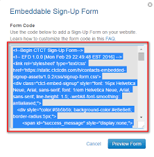 constant contact signup form constant contact popup opt in form for wordpress