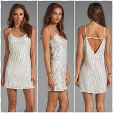 Parker White Sequin Tank Dress Nwt