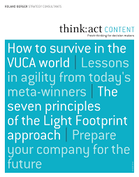 Light Footprint Strategy How To Survive In The Vuca World