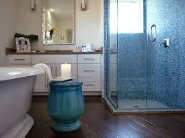blue mosaic tile contemporary