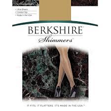 Berkshire Size Chart Berkshire Womens Shimmers Ultra Sheer Control Top Pantyhose 4429
