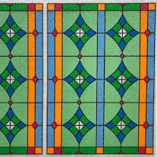 Statische Fensterfolie Abbey Meterware Buntglasfolie Kirchenfenster
