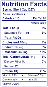 low fat smooth creamy plain nutrition facts