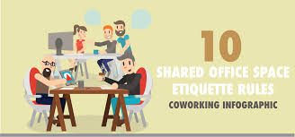 office space cover. 10 Shared Office Space Etiquette Rules | Coworking Infographic Office Space Cover 8