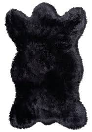 bear skin rug faux m black faux bear skin fur rug without head and claw bear