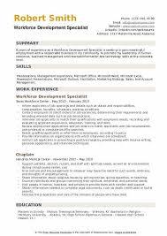 Sample Management Specialist Resume Workforce Development Specialist Resume Samples Qwikresume