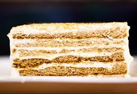 Multilayered Russian honey cake